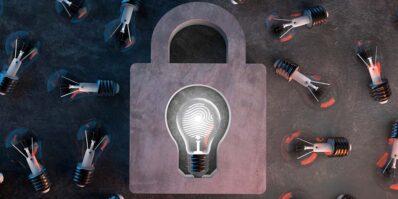 Cadeado simbolizando a proteção dos tipos de patentes